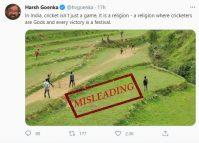 नेपालमा क्रिकेट खेलिरहेको फोटोलाई भारतको सन्दर्भ जोडेर यसरी भ्रामक बनाइयाे