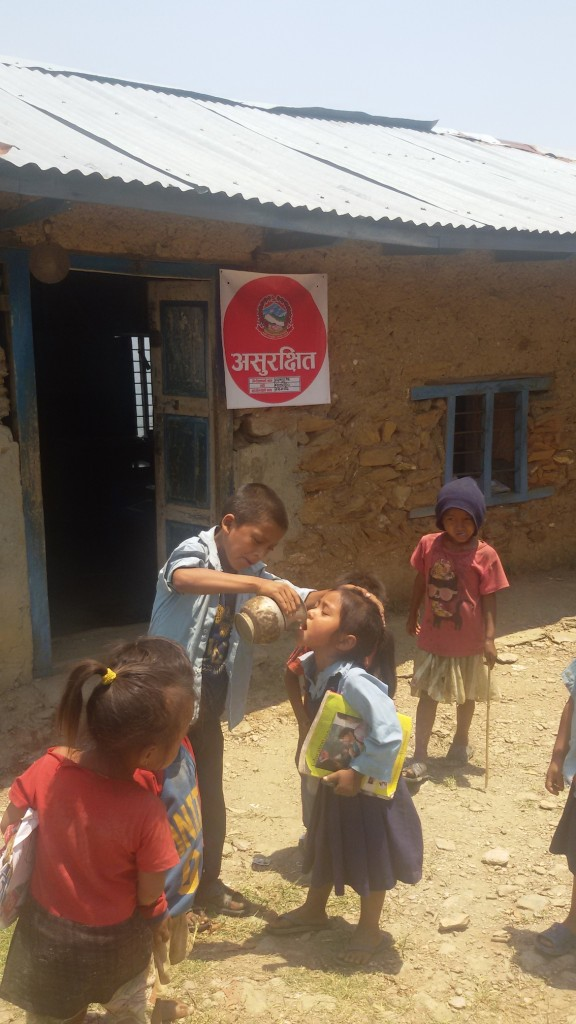 Damaged school of Jogimara village