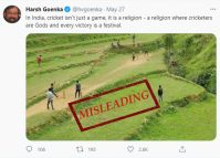 Nepal village photo used in the context of Indian cricket misleads many